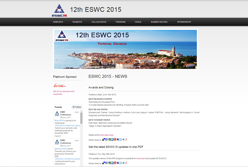 ESWC 2015 - European Semantic Web Conferences
