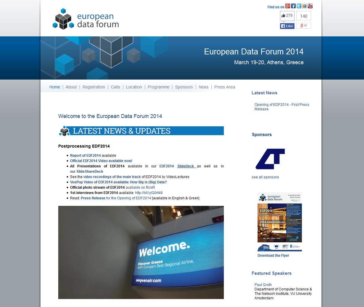 EDF 2014 - European Data Forum 2014