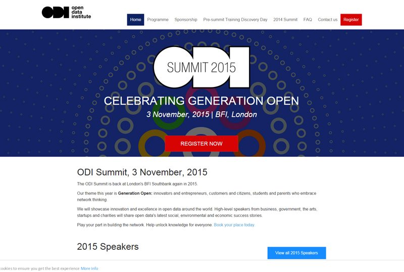 ODI Summit 2015 – Open Data Institute Summit 2015